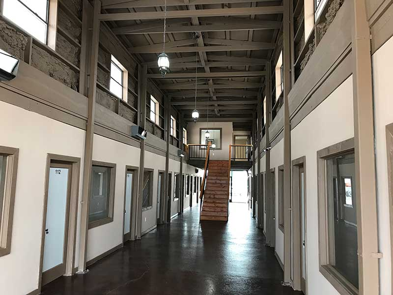 renovated barn into office spaces for lease